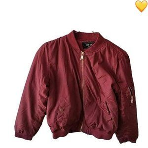 Active USA Red Long Sleeve Bomber Jacket